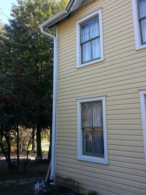 Half Round Gutter Project Traditional Exterior