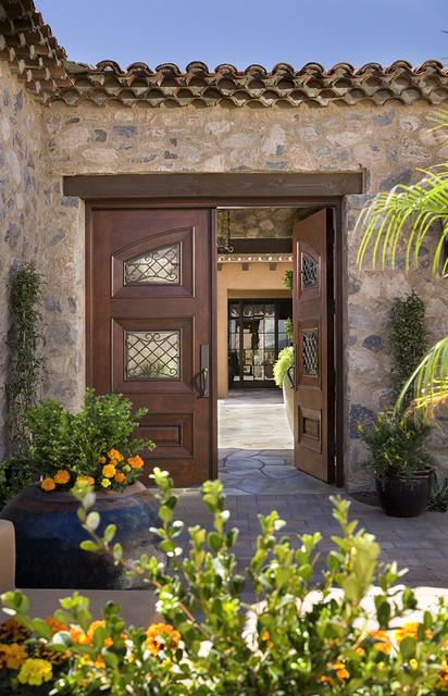 Hallmark interior design llc mediterranean exterior for Mediterranean style entry doors
