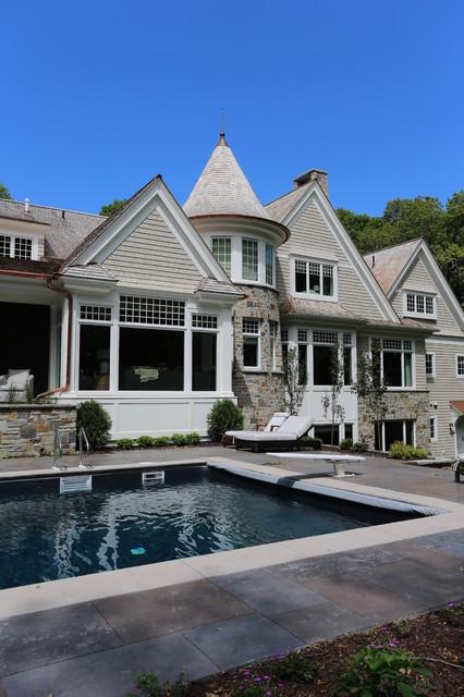 Hamptons Historic Estate Transitional Exterior