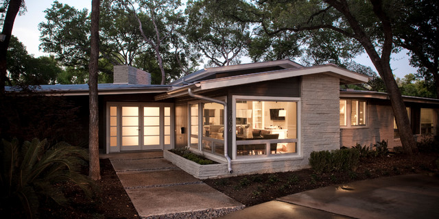 Hancock midcentury exterior austin by dallas grant construction - Easy steps redesign home contemporary home style ...
