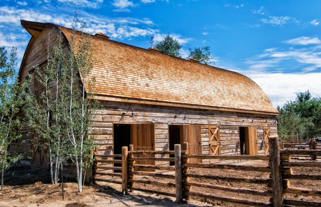Hand-hewn Skin siding - Rustic - Exterior - other metro ...