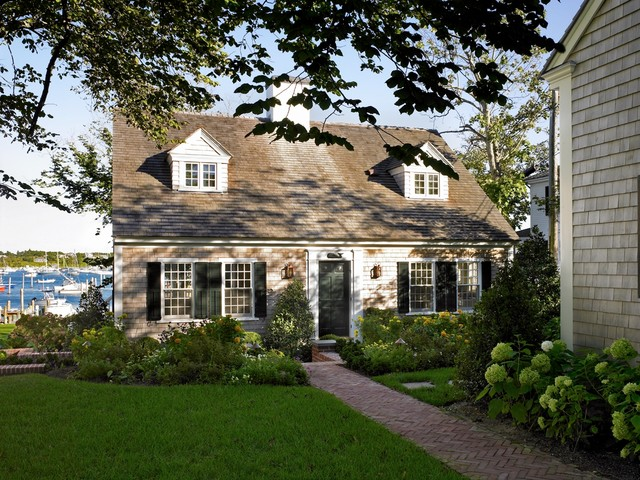 Harbor restoration beach style exterior other by for Landscaping for cape cod style houses