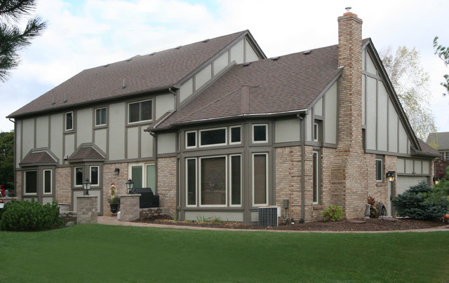 Hardie Tudor Siding In Northville Traditional Exterior