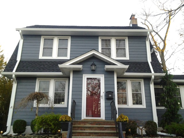 Hardi Plank Siding >> HardiePlank Evening Blue (Fanwood, NJ) - Traditional - Exterior - other metro - by American Home ...