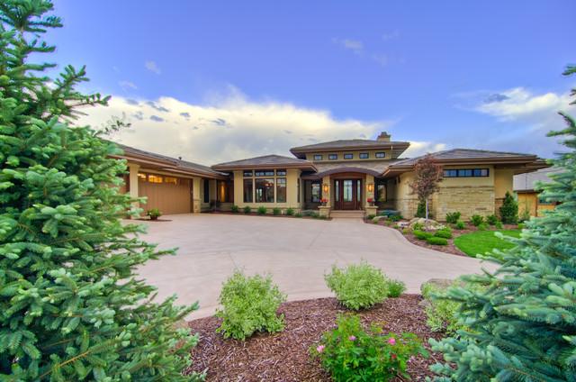 Harmony i transitional exterior denver by david for David hueter home designs