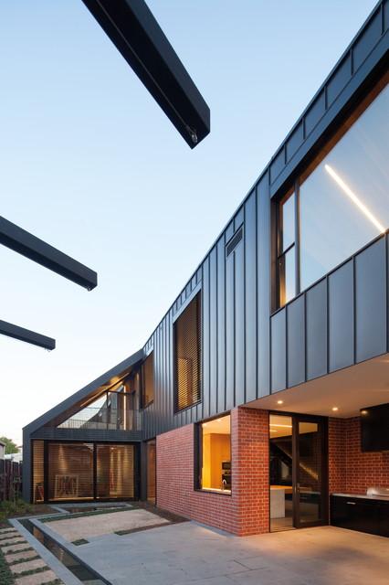 Harold st residence exterior modern exterior for Modern exterior building materials