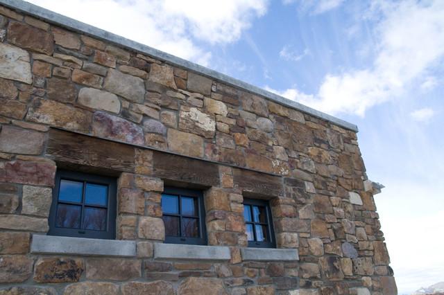 Harrison MT Home rustic-exterior