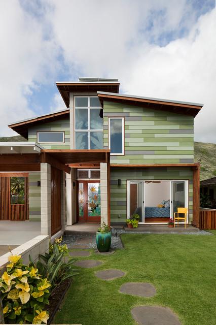 Hawaii Slanted House Design: Contemporary