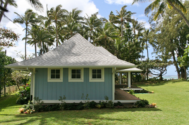 Hawaii north shore beach house contemporary exterior for Small house plans hawaii