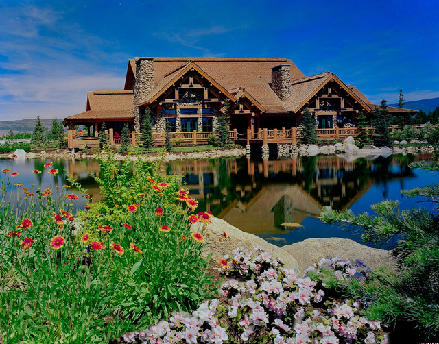 Heber City, Utah Family Home, with man made lake, rustic-exterior