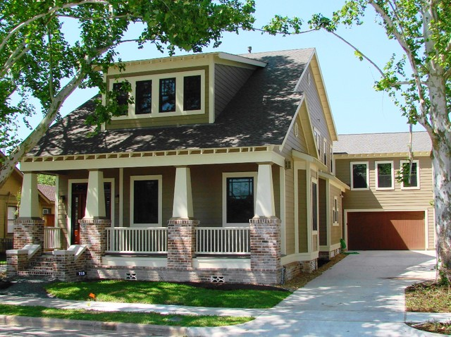 Heights bungalow craftsman craftsman exterior for Small craftsman style homes