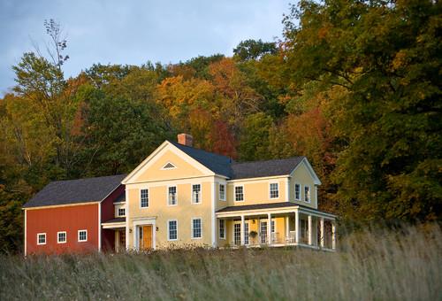 Farmhouse Exterior By Middlebury Interior Designers U0026 Decorators Connor  Homes