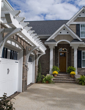 Add some curb appeal to your front porch for Exterior house brackets