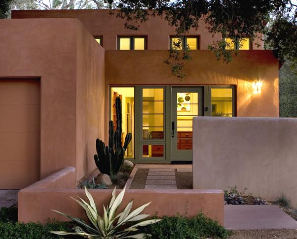 Ojai house entrance courtyard modern exterior los for Entry courtyard design ideas