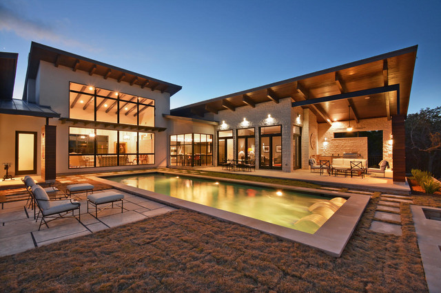 Heyl Hill Country Contemporary Transitional Exterior