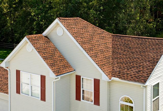 Hickory shingles traditional exterior