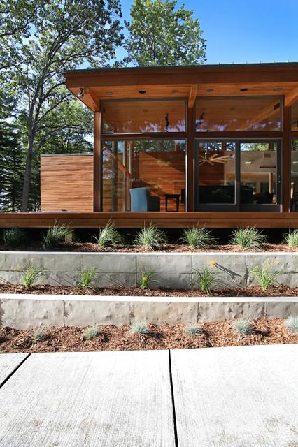 Higgins Lake House modern-exterior