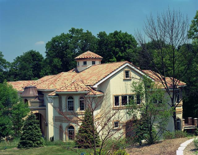 High Barrel Roof Tile Mediterranean Exterior