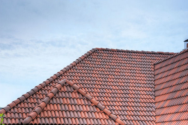 High barrel roof tile mediterranean exterior for Mediterranean roof styles