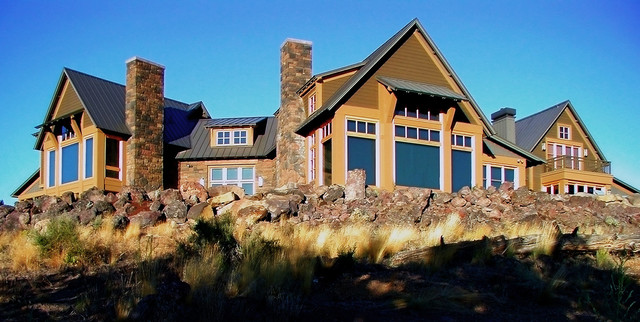 High Desert Lodge contemporary exterior