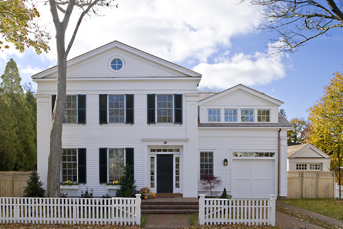 Before Gl Was Built Into Garage Door Panels Transoms Were Placed Atop Doors Traditional Exterior By Boston Architects Designers Helios Design