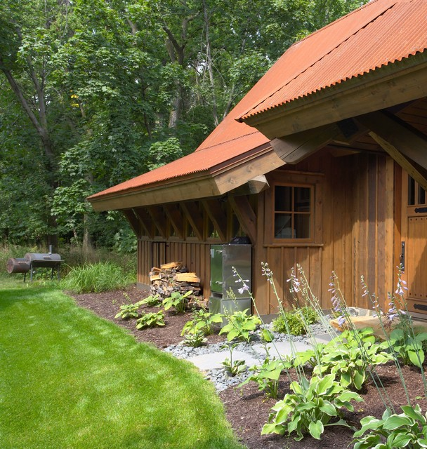 Highcroft Hunting Barn rustic-exterior