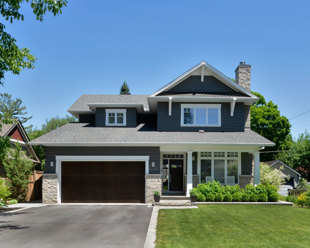 Highland ottawa project transitional exterior for Exterior by design ottawa