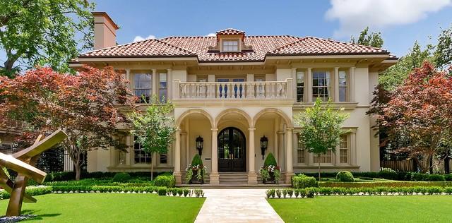 highland park luxury stone features mediterranean exterior - Luxury Stone Exterior