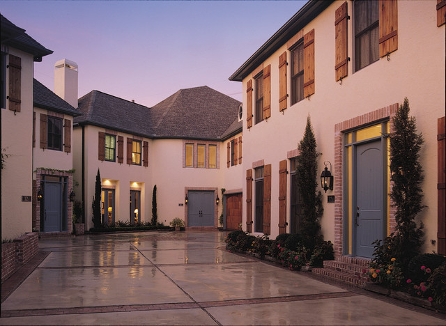 Highland Village Country French Transitional Exterior Houston By Rohe Wright Builders