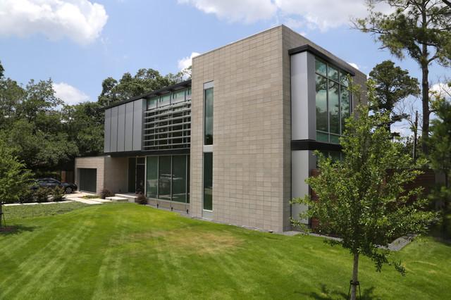 Highland Village House contemporary-exterior