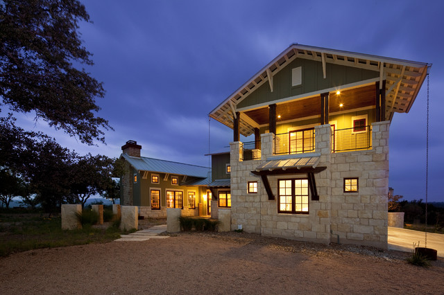 Hill Country Arts And Crafts Eclectic Exterior