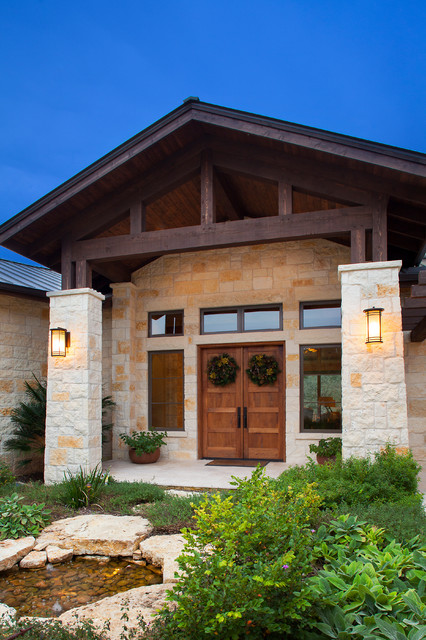 Hill Country Christmas Farmhouse Exterior Austin