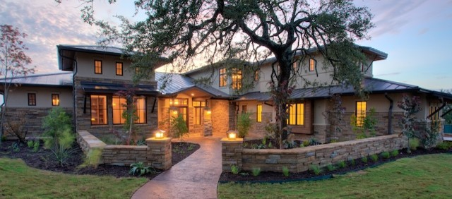 Hill country contemporary contemporary exterior for Hill country style home plans