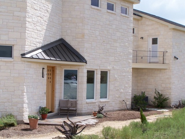 Inspiration for a contemporary exterior home remodel in Austin