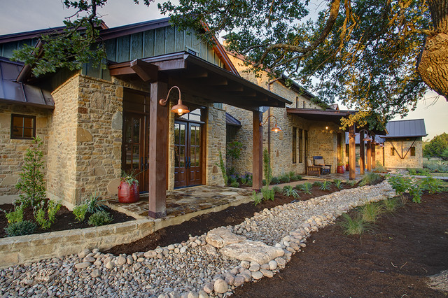 Hill Country Farmhouse eclectic exterior