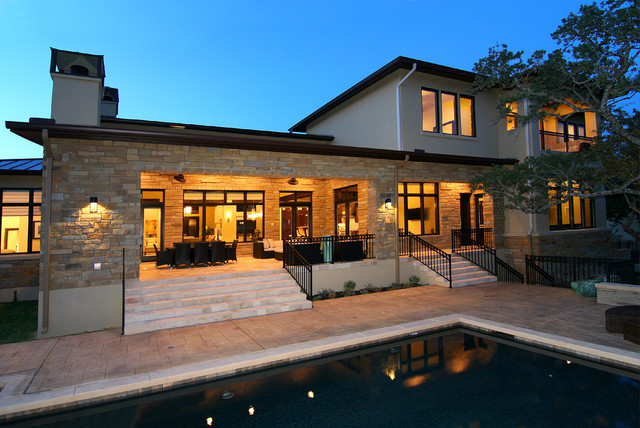 Hill country modern by zbranek holt custom homes austin Custom home plans texas