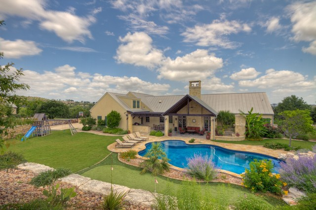 hill country ranch ii - tropical - exterior - austin -tony