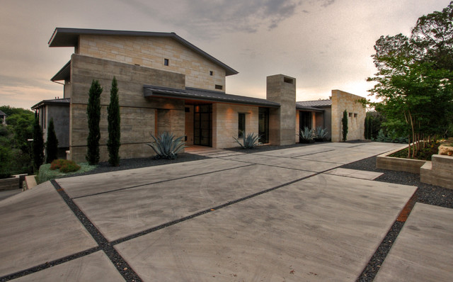 Hill Country Residence modern-exterior