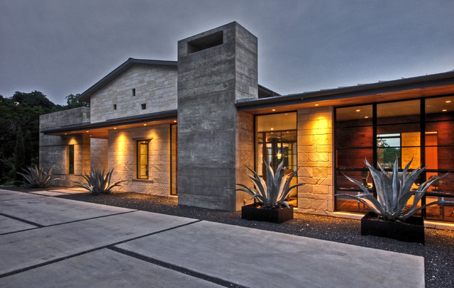 Hill country residence modern exterior austin by for Hill country modern homes