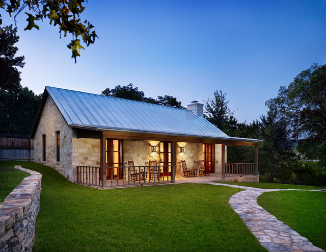 Hill country retreat for Small house design houzz