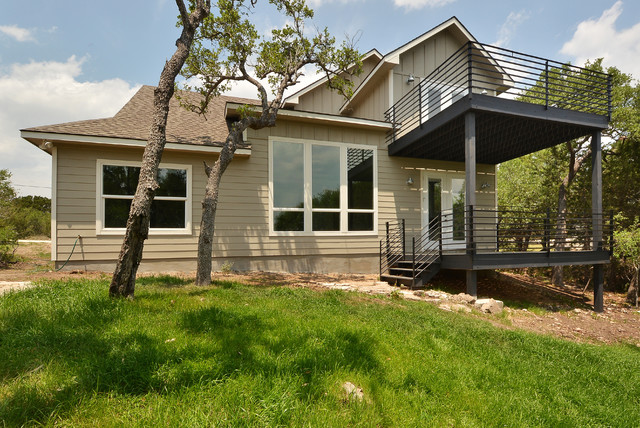 Hill country spec 2 industrial exterior austin by for Capstone exterior design firm