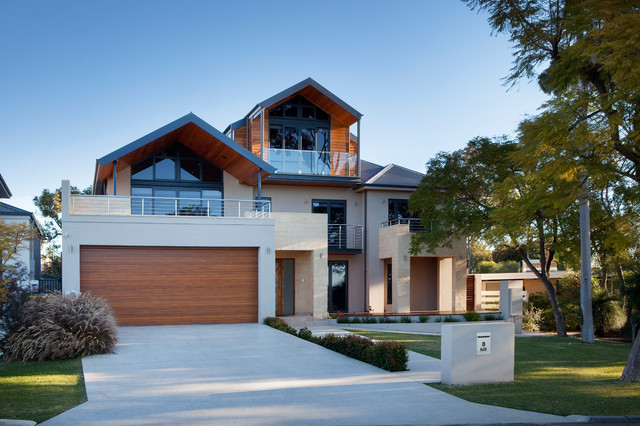 Hill Place Transitional Exterior Perth By Daniel Lomma Design