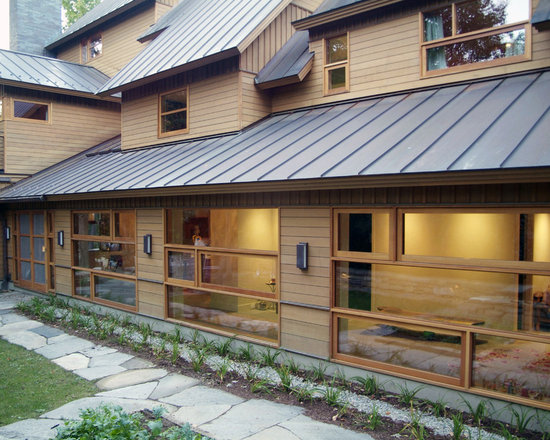 Grey metal roof design ideas pictures remodel and decor for Metal hip roof
