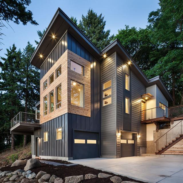 Hilltop House | Grand Vista Subdivision contemporary-exterior