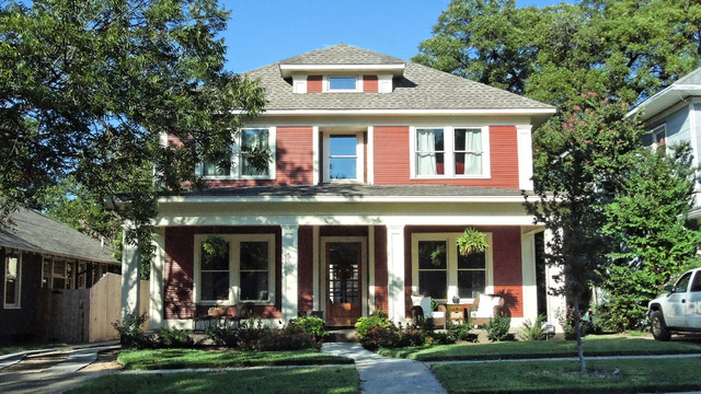 Historic Four Square Craftsman Exterior Dallas By