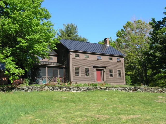 historic replica colonial - farmhouse - exterior - burlington -
