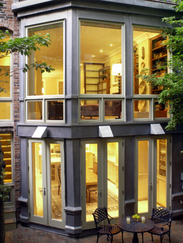 Historic townhouse contemporary exterior boston by for Townhouse modern design exterior