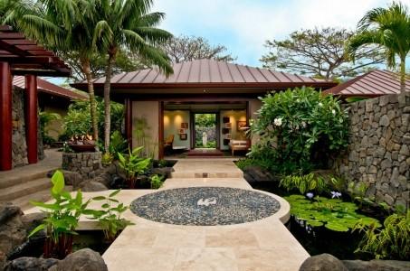 Hokulia resort residence tropical exterior hawaii for Tropical hotel decor
