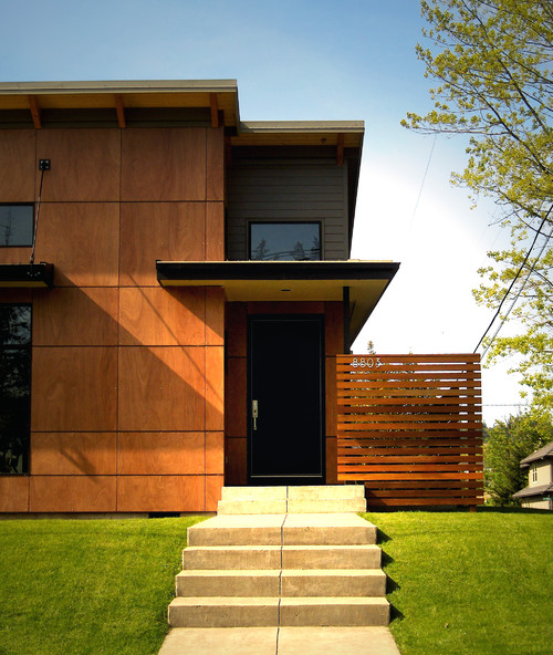 Are these exterior panels actually wood? What is their durability?  Maintainance needs? - Are These Exterior Panels Actually Wood? What Is Their Durability