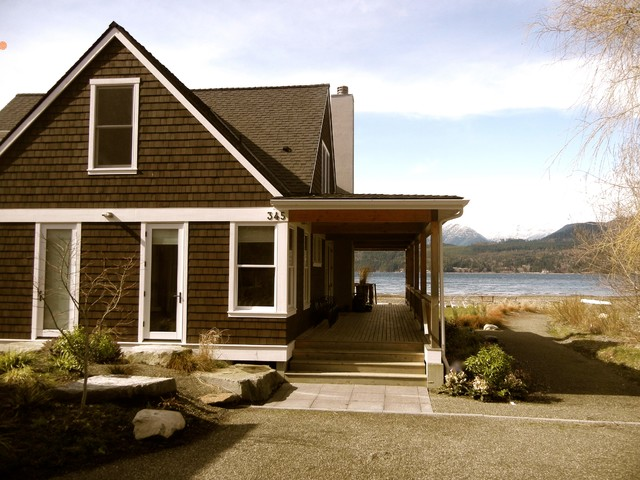 Holly beach house traditional exterior seattle by - Brown house with white trim ...